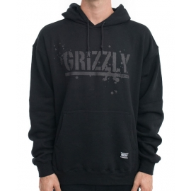 Moletom Grizzly Canguru Splatter - Preto