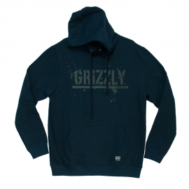 Moletom Grizzly Canguru Splatter - Azul