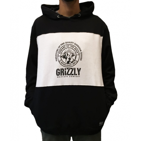 Moletom Grizzly Ganguru Granite - Preto