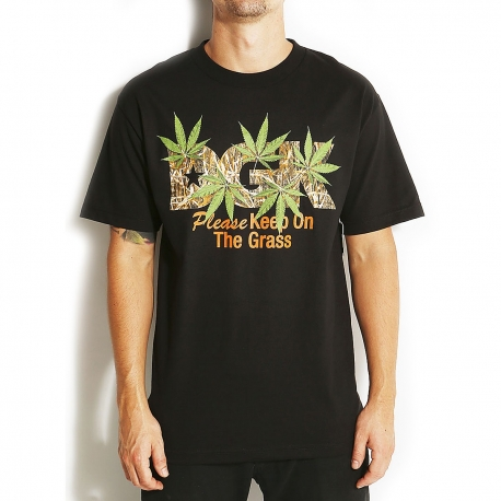 Camiseta DGK Keep on the Grass - Preto