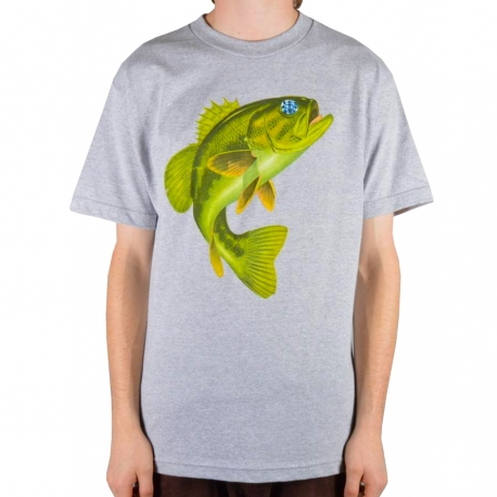 Camiseta Diamond Hope Bass Fish - Cinza