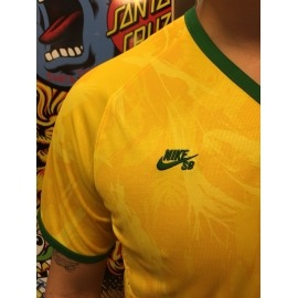 Camisa Nike SB Official Brasil Yellow