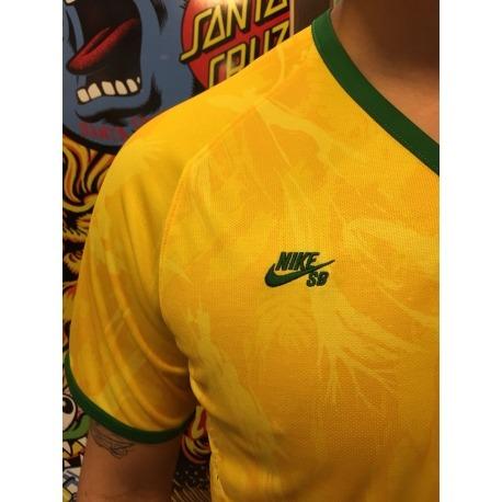 Camiseta Nike SB Brasil Yellow G