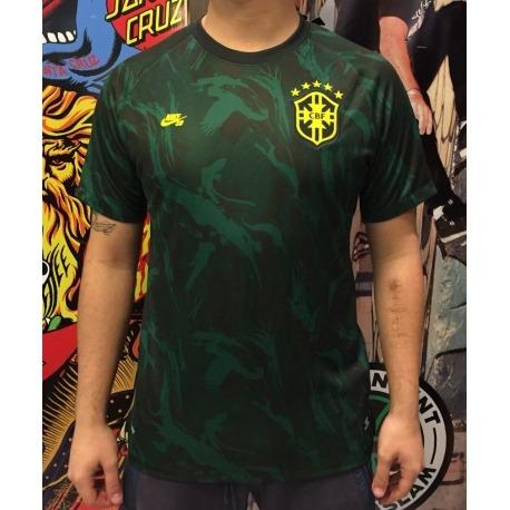 Camisa Official Nike SB Brasil Green