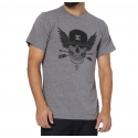 Camiseta DC Flight Skull - Cinza