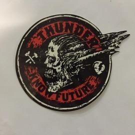 Adesivo Thunder Skull Know Future (12,5cm x 12,5cm)