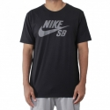 Camiseta Nike SB Icon Refletivo - Preto/Cinza