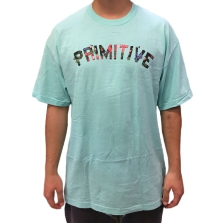 Camiseta Primitive Organik Verde Àgua