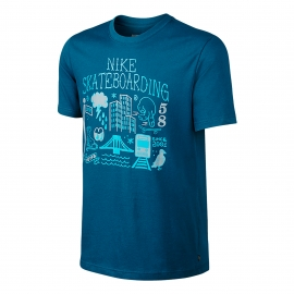 Camiseta Nike Sb DF Big City - Azul