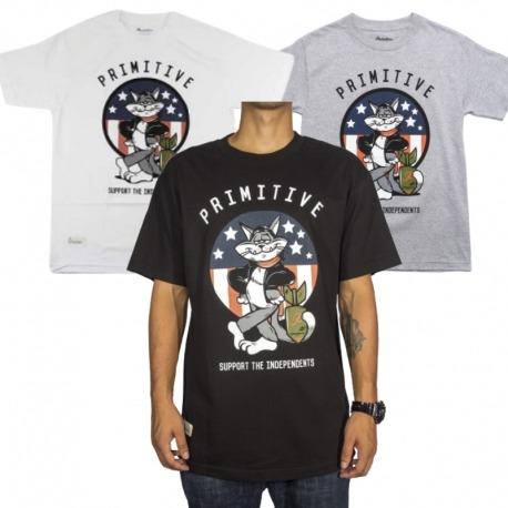 Camiseta Primitive Tom Cat - Preto