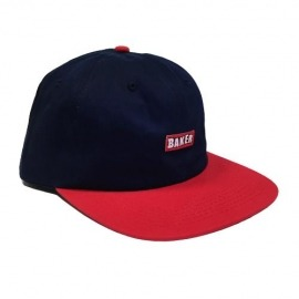 Boné Baker Snapback Brand Logo Navy/Red