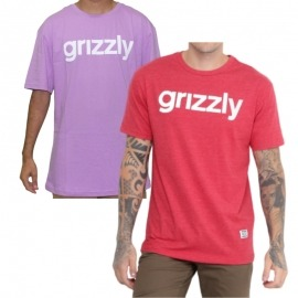 Camiseta Grizzly Lovercase Red