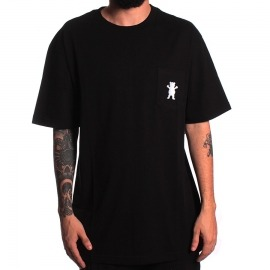 Camiseta Grizzly Embroidery Pocket Black