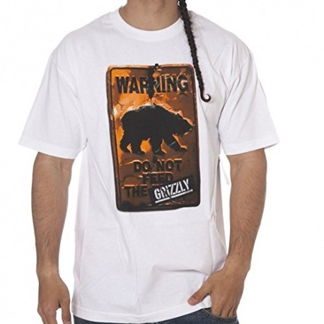 Camiseta Grizzly Do Not Feed The Bear Branco