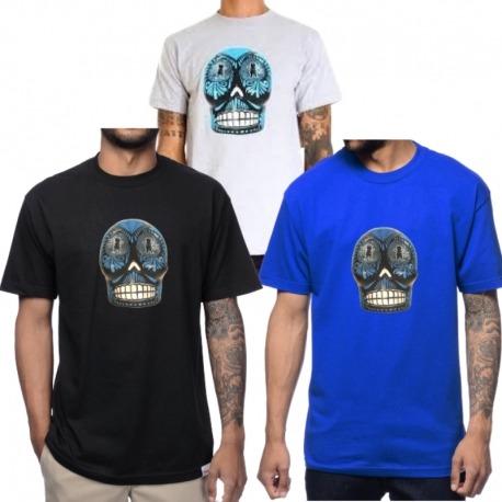 Camiseta Grizzy P Rod Dia de Los - Azul