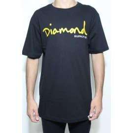 Camiseta Diamond Og Script Black