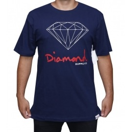 Camiseta Diamond OG Sign Navy