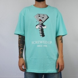 Camiseta Diamond Screwed Up Aqua