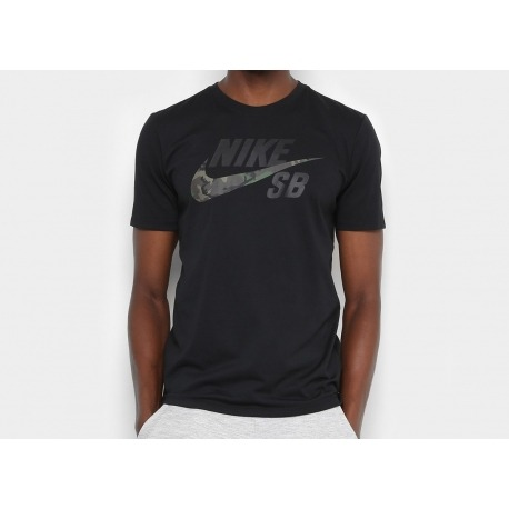 Camiseta Nike SB Dri Fit Logo Camo Black