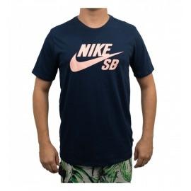 Camiseta Nike SB Logo Navy/Pink