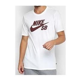 Camiseta Nike SB Logo White/Burgundy
