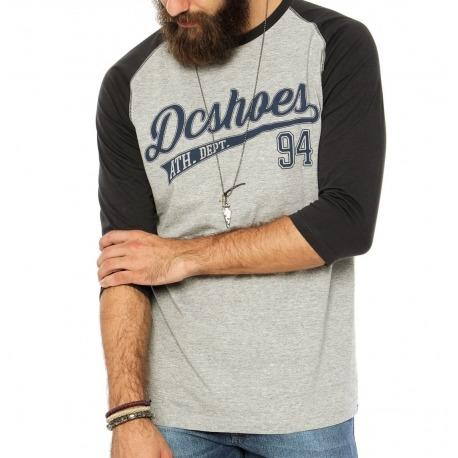 Camiseta DC 3/4 Athscript Grey