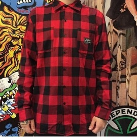 Camisa Primitive Buffalo IKat Red/Black Flannel
