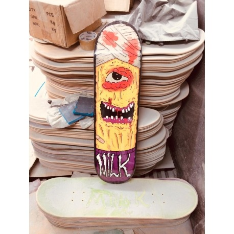 Shape Milk Skateboards Monster yellow