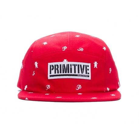 Boné Primitive 5 Panel Icon - Vermelho