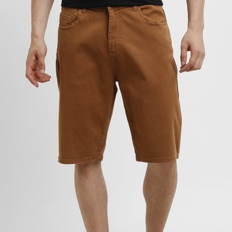 Bermuda DC Jeans Color Marrom