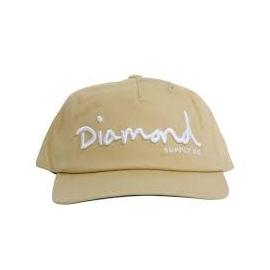 Boné Diamond Og Script Khaki