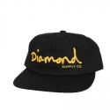 Boné Diamond Og Script Unconstructed Black