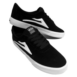 Tênis Lakai Sheffield Black/White Suede