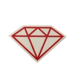 Adesivo Diamond Rock Red - (5cm x 7,5cm)