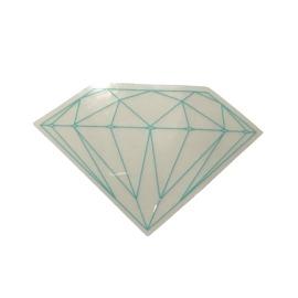 Adesivo Diamond Brilliant Transparent Green - (5cm x 7,5cm)