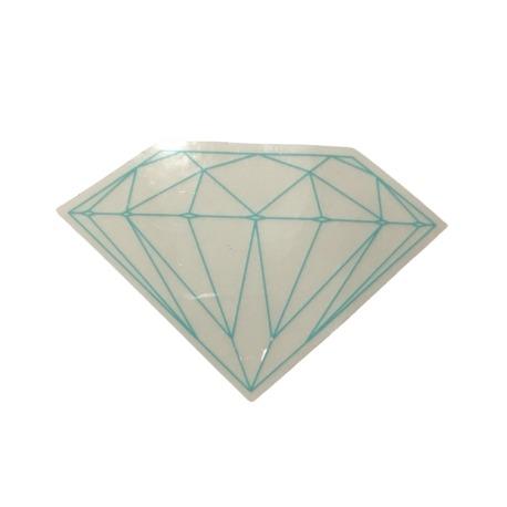 Adesivo Diamond Brilliant Transparent Green (5cm x 7,5cm)