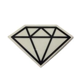Adesivo Diamond Rock Black - (5cm x 7,5cm)