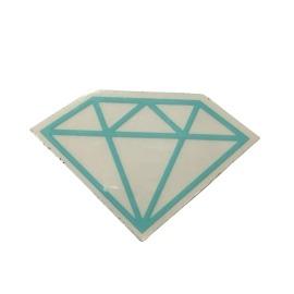 Adesivo Diamond Rock Green (5cm x 7,5cm)