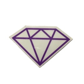 Adesivo Diamond Rock Purple (5cm x 7,5cm)