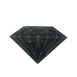 Adesivo Diamond Brilliant Black - (5cm x 7,5cm)