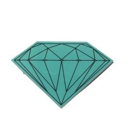 Adesivo Diamond Brilliant Green - (5cm x 7,5cm)