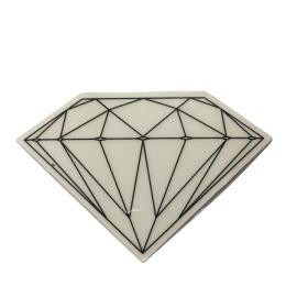 Adesivo Diamond Brilliant Transparent Black (5cm x 7,5cm)