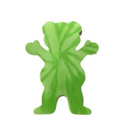 Adesivo Grizzly Neon Tie Dye Bear Green P - (7,5cm x 6cm)