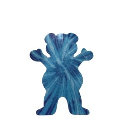 Adesivo Grizzly Neon Tie Dye Bear Blue P - (7,5cm x 6cm)
