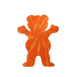 Adesivo Grizzly Neon Tie Dye Bear Orange P - (7,5cm x 6cm)