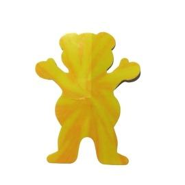 Adesivo Grizzly Neon Tie Dye Bear Yellow P - (7,5cm x 6cm)