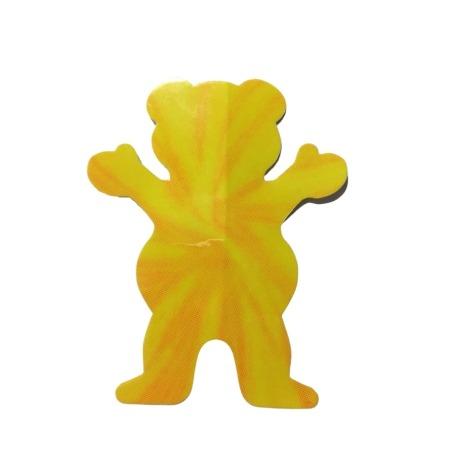 Adesivo Grizzly Neon Tie Dye Bear Yellow P (7,5cm x 6cm)