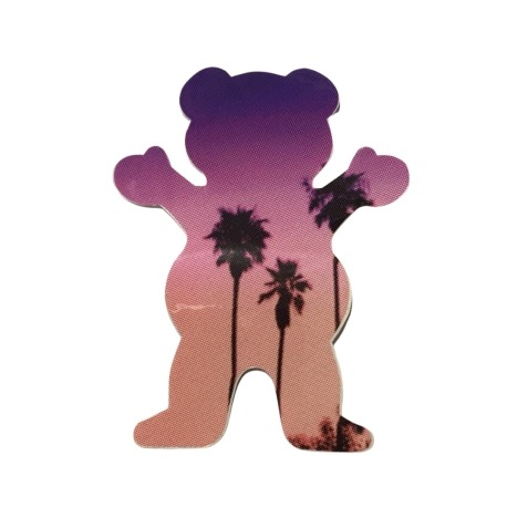 Adesivo Grizzly Palms Bear Purple P (7,5cm x 6cm)