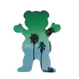 Adesivo Grizzly Palms Bear Green P - (7,5cm x 6cm)