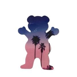 Adesivo Grizzly Palms Bear Blue P - (7,5cm x 6cm)